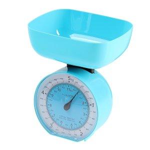 Весы кухонные luazon lvkm-503, механические, до 5 кг, чаша 1000 мл, , голубые Home