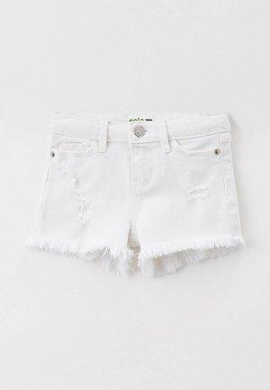 Шорты джинсовые Sela. Цвет: белый
