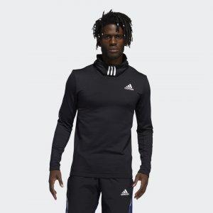 Лонгслив с капюшоном COLD.RDY Techfit Performance adidas. Цвет: черный