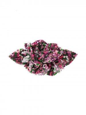 Брошь с цветочной аппликацией Philosophy Di Lorenzo Serafini. Цвет: розовый