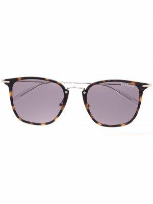 Солнцезащитные очки в оправе черепаховой расцветки Montblanc. Цвет: коричневый