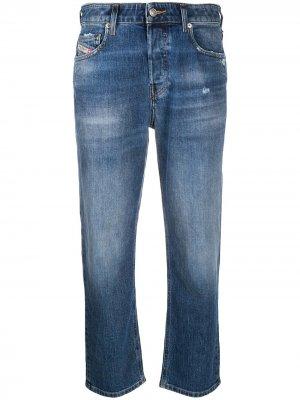 Прямые укороченные джинсы Aryel Diesel. Цвет: синий
