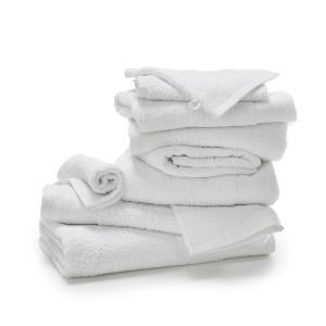 Комплект из 10 банных принадлежностей махровой ткани 500 г/м² SCENARIO LA REDOUTE INTERIEURS. Цвет: белый