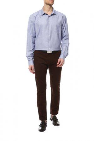 Рубашка Karflorens. Цвет: темно-голубой