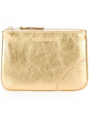 Классический бумажник на молнии Comme Des Garçons Wallet. Цвет: золотистый
