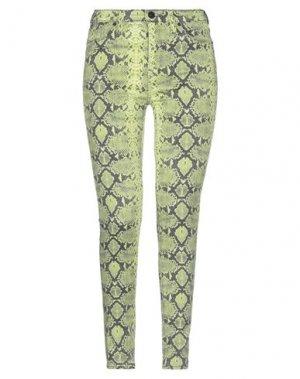 Джинсовые брюки HUDSON. Цвет: кислотно-зеленый
