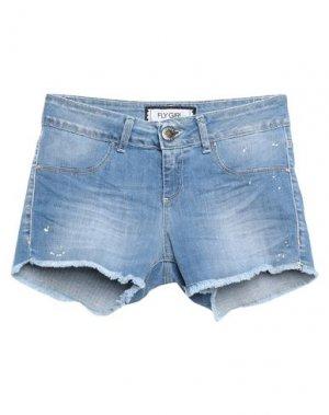 Джинсовые шорты FLY GIRL. Цвет: синий