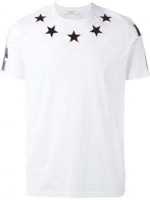 Футболки и жилеты Givenchy. Цвет: белый