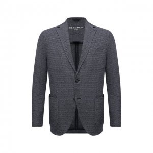 Пиджак из хлопка и льна Circolo 1901. Цвет: синий
