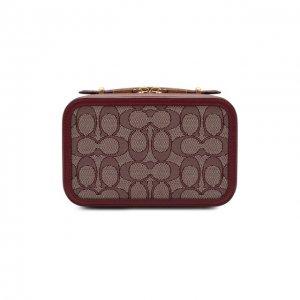 Поясная сумка Alie Coach. Цвет: бордовый