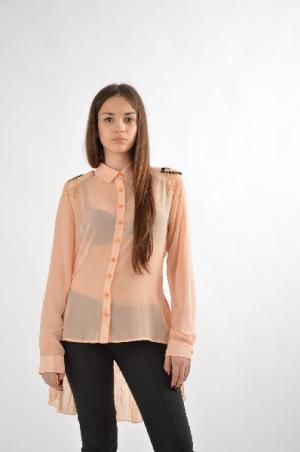 Блузка Carla Giannini. Цвет: бежевый