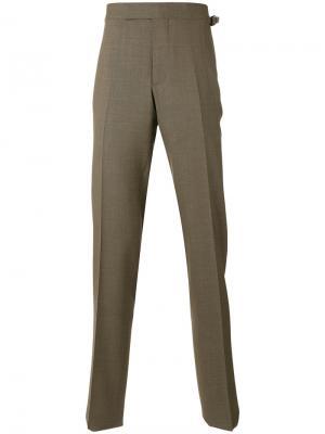 Зауженные классические брюки Tom Ford. Цвет: коричневый