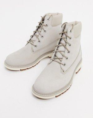 Бежевые ботинки на шнуровке kenniston 6 дюймов-Бежевый Timberland