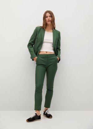 Структурированный костюмный пиджак - Cofi7-a Mango. Цвет: темно-зеленый
