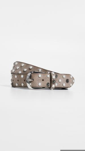 Vintage Imitation Pearl / Flower Stud Belt B.