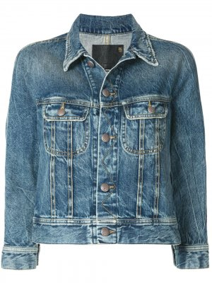 Джинсовая куртка Tanner Trucker R13. Цвет: синий
