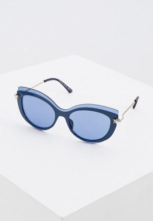 Очки солнцезащитные Jimmy Choo CLEA/G/S PJP. Цвет: синий
