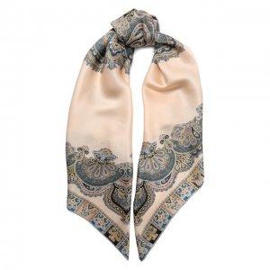 Шелковый платок Michele Binda. Цвет: бежевый