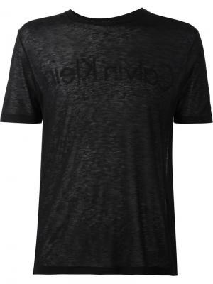 Футболки и жилеты Calvin Klein Collection. Цвет: чёрный