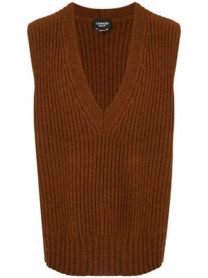 Жилетка в стиле оверсайз с V-образным вырезом Calvin Klein 205W39nyc. Цвет: коричневый