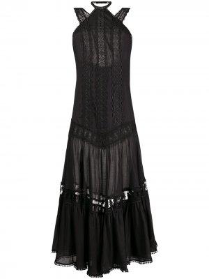 Платье с кружевом и вырезом халтер Charo Ruiz Ibiza. Цвет: черный