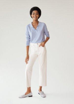 Укороченные джинсы straight fit - Havana Mango. Цвет: белый