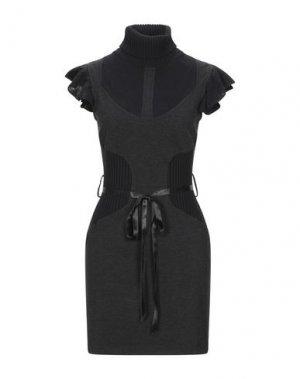 Короткое платье LORELLA SIGNORINO. Цвет: черный