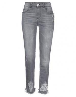 Джинсовые брюки LAB ANNA RACHELE. Цвет: серый
