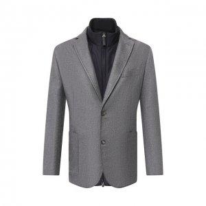 Комплект из пиджака и жилета Brioni. Цвет: серый