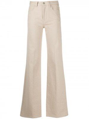 Расклешенные джинсы с завышенной талией AMI Paris. Цвет: нейтральные цвета