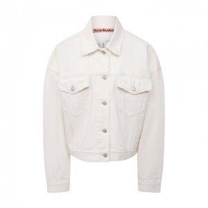 Джинсовая куртка Acne Studios. Цвет: белый