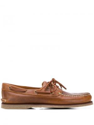 Мокасины на шнуровке Timberland. Цвет: коричневый