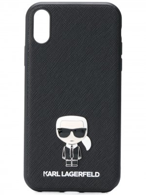 Чехол Karl для iPhone Lagerfeld. Цвет: черный