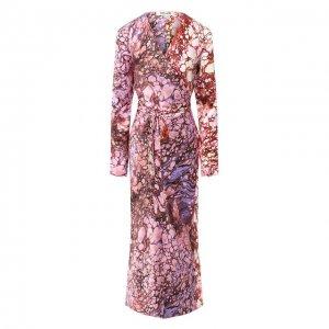 Шелковое платье Diane Von Furstenberg. Цвет: разноцветный