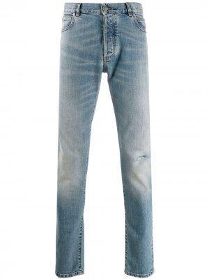 Прямые джинсы Balmain. Цвет: синий