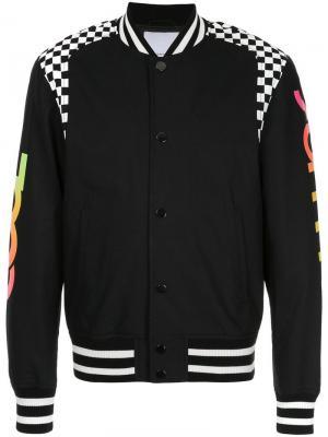Cool Summer checkered panel bomber jacket Ports V. Цвет: черный