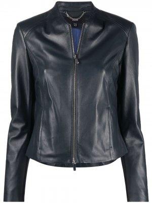 Куртка без воротника Arma. Цвет: синий