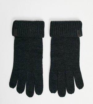 Черные меланжевые перчатки из мериносовой шерсти -Черный цвет AllSaints