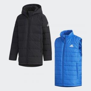 Пуховик 2-in-1 Athletics adidas. Цвет: черный
