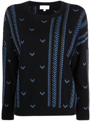 Джемпер Kandy с вышивкой шеврон Lala Berlin. Цвет: черный