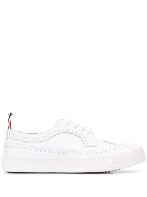 Туфли броги Thom Browne. Цвет: белый