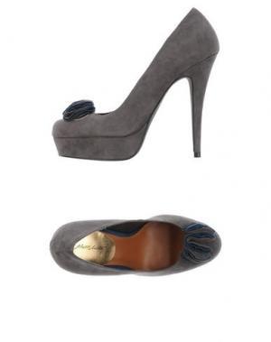 Туфли ALBERTO MORETTI. Цвет: серый