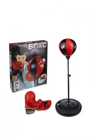 Набор для бокса 1toy. Цвет: черный, красный