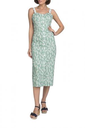 Платье Gloss. Цвет: зеленый