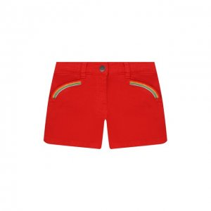 Хлопковые шорты Stella McCartney. Цвет: красный