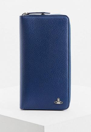 Кошелек Vivienne Westwood Man. Цвет: синий