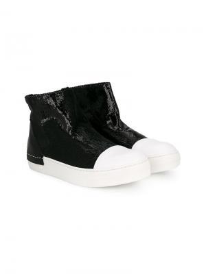Ботинки-слипон с пайетками Cinzia Araia Kids. Цвет: черный