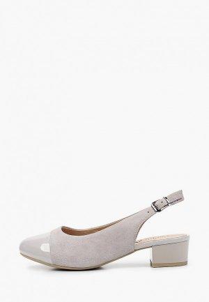 Туфли Caprice Увеличенная полнота, Comfort. Цвет: серый