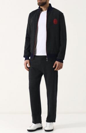Спортивный костюм из смеси хлопка и шерсти Billionaire. Цвет: серый