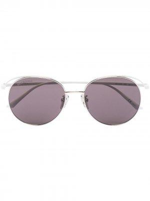 Round-frame metal sunglases Balenciaga Eyewear. Цвет: белый